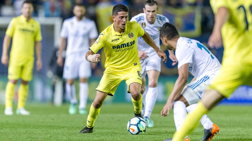 PHOTO: Pablo Fornals, during a match against Real Madrid at the Estadio de la Cerámica.