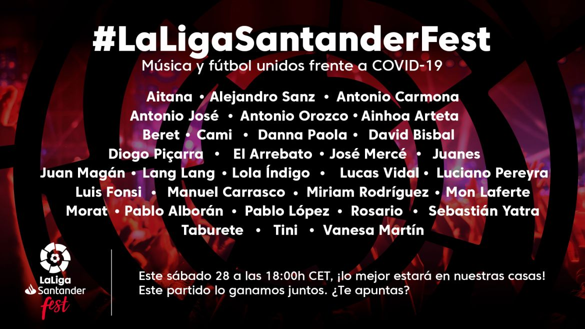 Check out the full list of artists for LaLiga Santander Fest!