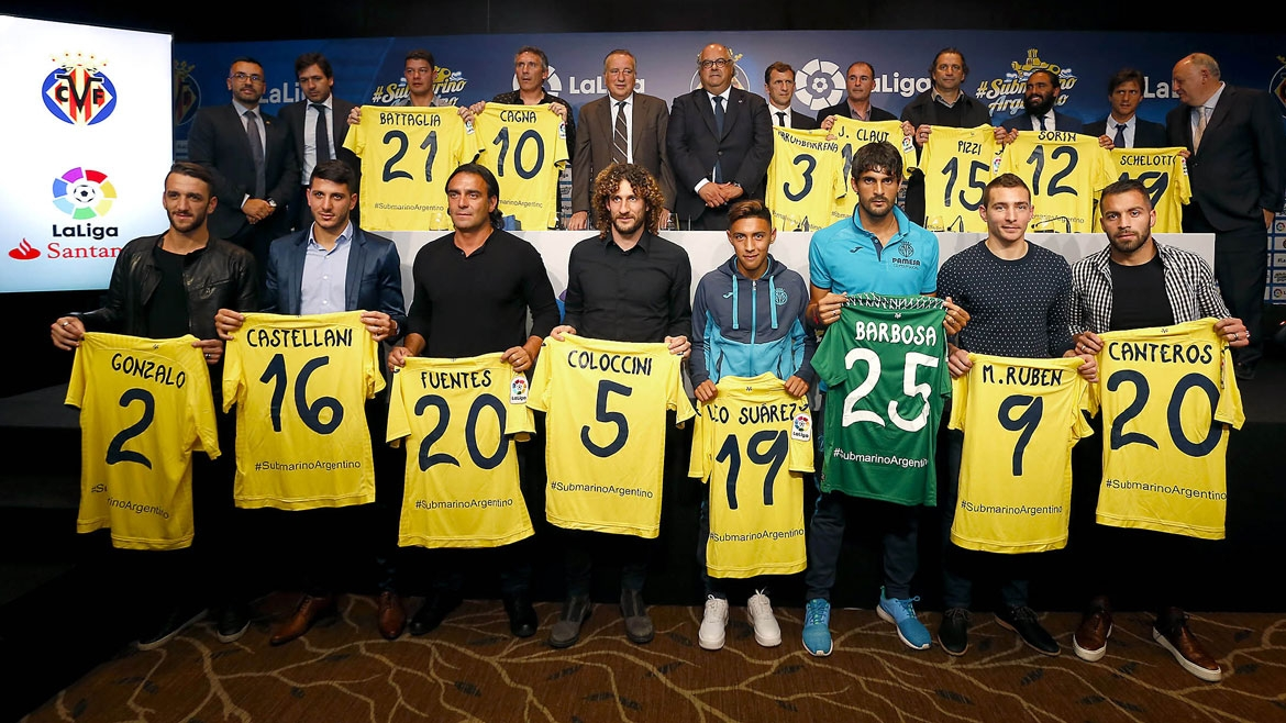 The event brought together 16 Argentinean players that have played for Villarreal CF.