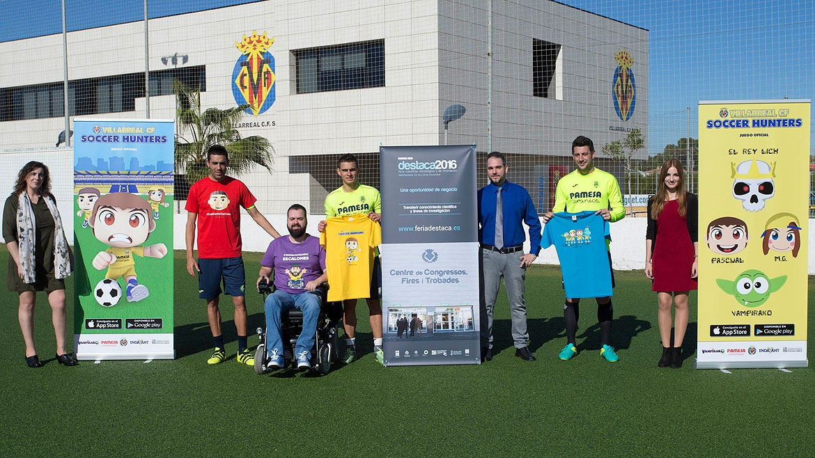 The video game was presented at midday today at the Villarreal CF Training Ground (Ciudad Deportiva).