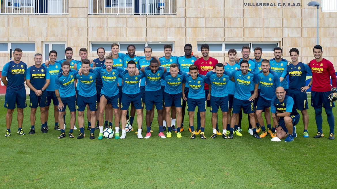 Official Villarreal numbers for the 17/18 season