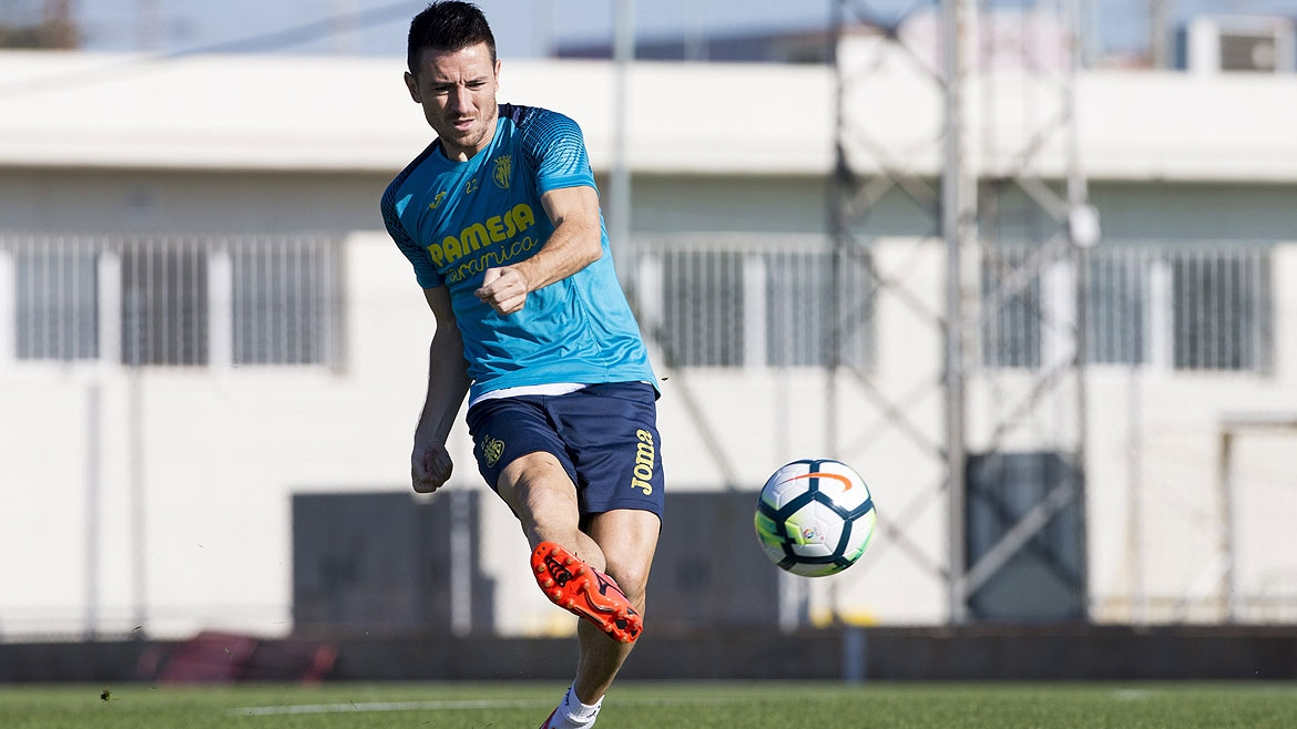 Antonio Rukavina during a training session at the Villarreal CF Training Ground (Ciudad Deportiva).