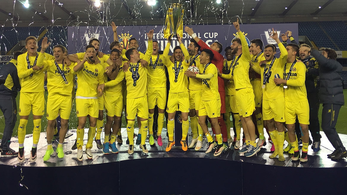 The Yellows lift the trophy as champions of the prestigious tournament after beating PSV in the Final.