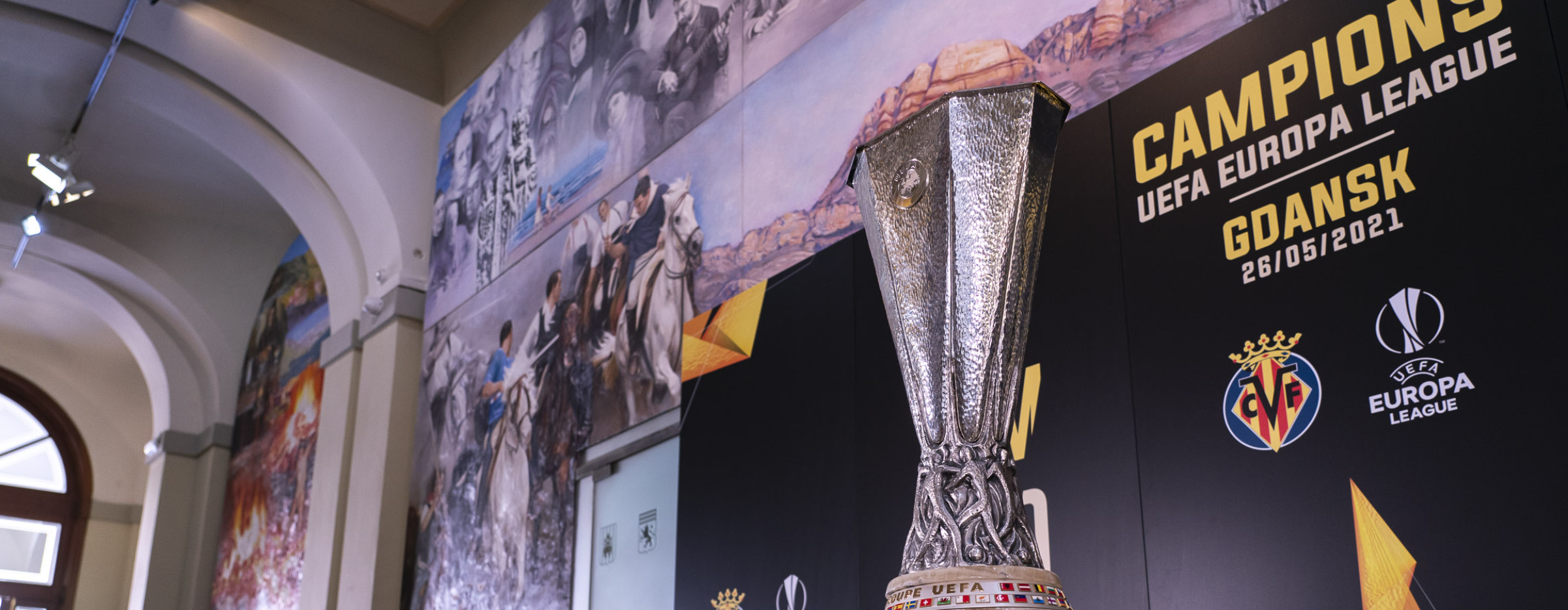 The Europa League trophy is now on show in Castellón